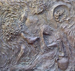 Ernst Alt: Verkündigung (Portal der Basilika St. Johann, Saarbrücken)