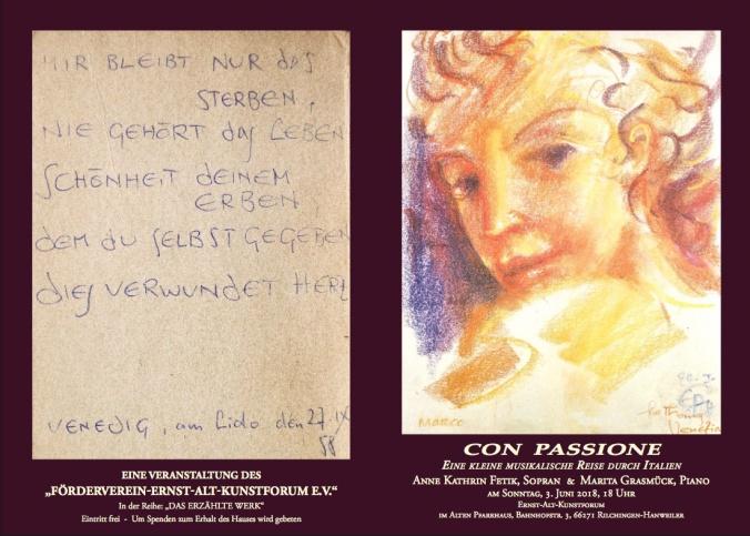 """""""Con Passione – Eine kleine musikalische Reise durch Italien"""" am 3. Juni 2018"""