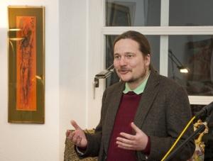 Dr. Yann Leiner, Vorsitzender des Fördervereins des Ernst-Alt-Kunstforums e.V.